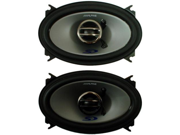 """ALPINE SPS-406 4X6"""" 2-WAY SPEAKERS PAIR POLY-MICA WOOFER CONE W/ RUBBER SURROUND"""