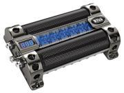 BOSS AUDIO 18 FARAD CAPACITOR WITH DIGITAL VOLTAGE DISPLAY AND BLUE ILLUMINATION