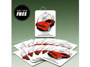 American Muscle Car Graphics Red Car Air Freshener, 10 Pack