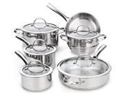 Cooks Standard NC-00391 11-Piece Classic Stainless-Steel Cookware Set