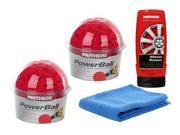 Mothers Powerball 2-pack combo with Powermetal Polish and Free Microfiber Towel