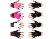 Mighty Grip Pole Dance Training and Fitness Gloves with Tack (Hot Pink, Medium)