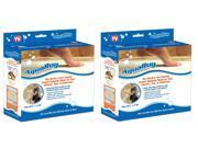 AquaRug Tub and Shower Mat, Beige, 2-pack