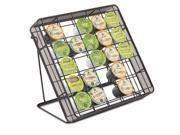 """Stand-up Hospitality Organizer, 25 Compartments, 10""""w x 2""""d x 11""""h, Black"""