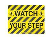B534FS 14X18 BK/YL WATCH YOUR STEP W/SYM 104499