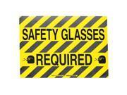 B534FS 14X18 BLK/YEL SAFETY GLASSES REQD 104510