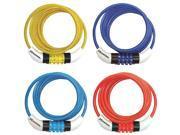 "Cable Bike Lock 5 Ft. ( 6 Mm ) X 1/4"", Asstd Colors Master Lock Padlocks"