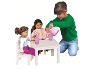 Doll Table And Chair Set - White