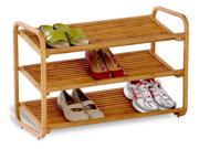 Honey Can Do SHO-01599 3-Tier Bamboo Shoe Rack Shelf