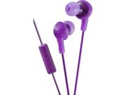 JVC HAFR6V Jvc hafr6v gummy plus in-ear headphones with remote & mic (violet)