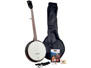 Saga Appalachian APB-1 Pickin Pac 5-string Resonator banjo Outfit