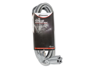 Innovera Indoor Heavy-Duty Extension Cord, 15 Feet, Gray