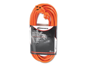 Innovera Indoor/Outdoor Extension Cord, 25 Feet, Orange