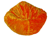 Ace Bayou Luxury Tangerine Chenille Bean Bag