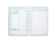 """Franklin Covey Compact Planner Refill, Daily - 1 Year - 2016 - Double Page Layout 4.25"""" x 6.75"""" - Green, White"""