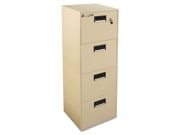 Sentry Safe FIRE-SAFE Four-Drawer Water-Resistant Fire File, 18-1/4w x 21d x 55-1/2h, Putty