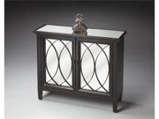 Butler Console Cabinet, Plum Black Finish