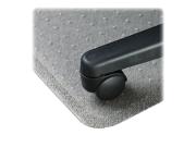 "LLR02157 Chairmat, Wide Lip 25""x12"", Low Pile, 45""x53"", Clear"