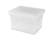 "Lorell 68925 Letter/Legal Plastic File Box Stackable - 14.2"" Width x 18"" Depth x 10.8"" Height - Plastic - Clear - File - 1 Each"