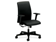 Ignition Series Seating Low-Back Task Chair, Black Fabric Upholstery