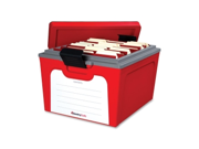"Sentry Safe GB20L Guardian Storage Box Internal 10"" Width x 15"" Depth x 12"" Height - 7.50 gal - Stackable - External 12.6"" Width x 19.8"" Depth x 15.8"" Height - Red - File - 1 Each"