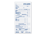 Rediform Individual Time/Payroll Record Form 10 EA/BX