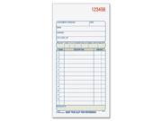 "Adams DC3705 Carbonless Sales Order Books 50 Sheet(s) - 2 Part - 7.18"" x 3.34"" Sheet Size - Assorted - 1 Each"
