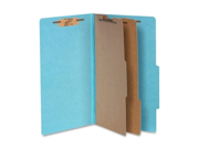 Acco Brands- Inc. ACC16026 Classification Folders- 3in. Exp- Legal- 2 Partition- Sky Blue