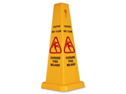 """GJO58880 Caution Safety Cone, 4-Sided, 10""""x10""""x24"""", Yellow"""