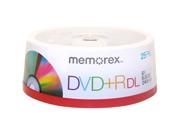 Memorex 05712-KIT DVD Recordable Media - DVD+R DL - 8x - 8.50 GB - 25 Pack Spindle