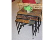 3 piece nesting tables w/ slate tops