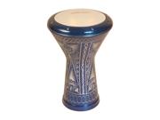 Aluminum Doumbek, Traditional Motif Blue