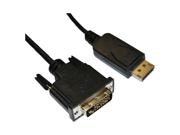 4XEM 6Ft DisplayPort To DVI-D Dual Link M/M Cable