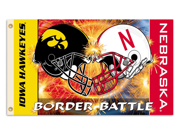 Iowa - Nebraska 3 Ft. X 5 Ft. Flag W/Grommets - Rivalry House Divided