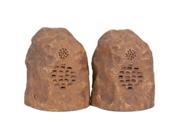 C2G 41309 Sandstone Wireless Rock Speaker Bundle (Rechargeable) with Dual Power Transmitter