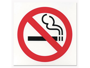 COSCO 098044 Business Decal Sign, No Smoking, 6 x 6, Red/White/Black