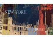 RoomMates New York Street Chair Rail Prepasted Mural 6' x 10.5'