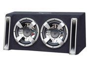 Lanzar - Vector 2400 Watts Dual 12'' Slim Designed Bass Box Enclosure