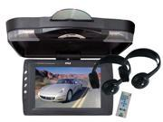 Pyle - 12.1'' Roof Mount TFT LCD Monitor w/ Built-In DVD Player & Wireless Headphones