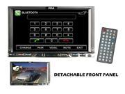 Pyle - 7'' Double Din Detachable TFT Touch Screen DVD/MPEG4/MP3/DIVX/CD-R/USB/SD/AM/FM/RDS With Bluetooth (Refurbished)