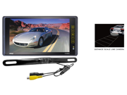 Pyle - 9.2'' TFT/LCD Mirror Monitor with License Plate Mount Rearview Backup Color Camera