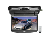 Pyle - 16.4'' TFT LCD Flip-Down Roof Mount w/ Built In DVD/SD/USB Player w/ Wireless FM Modulator/ IR Transmitter (Refurbished)