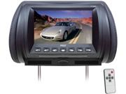 Pyle - Adjustable Hideaway Headrest 7'' TFT Video Monitor (Black) (Refurbished)