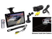 """Pyle - 7"""" Window Suction Mount TFT/LCD Video Monitor w/ Universal Mount Rearview Backup Color Camera & Distance Scale Line"""