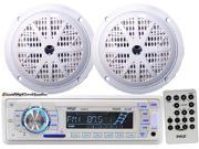 "Pyle - Marine Stereo AM/FM Radio Receiver USB/SD iPod/MP3 Player + 2 x 100W 4"" Speakers"