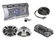 Brand X 2 Channel Amplifier + 6'' x 9'' speaker and RCA Cable package