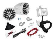 Pyle - 400 Watts Motorcycle/ATV/Snowmobile Mount Amplifier w/Dual handle-bar Mount Weatherproof speakers w/MP3/Ipod Input