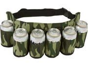 Redneck 6 Pack Beer & Soda Can Holster Belt - Camo Camouflage Design by EZ Drinker®