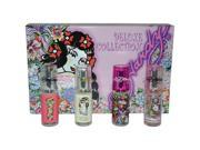 Ed Hardy Deluxe Collection by Christian Audigier for Women - 4 Pc Mini Gift Set