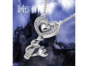 """18K/750 White Gold Diamond Key Pendant W/925 Sterling Silver Chain 18"""" (0.11cttw, G-H color, good SI1-SI2 Clarity)"""